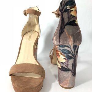 faba12c9a2f Nine West Shoes - Nine West Dempsey Platform Block Floral Fabric